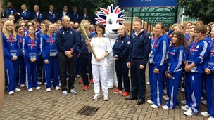 Team GB and torch