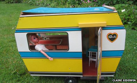 Sindy in a caravan