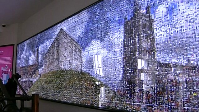 """History wall"" at refurbished Bridewell Museum"