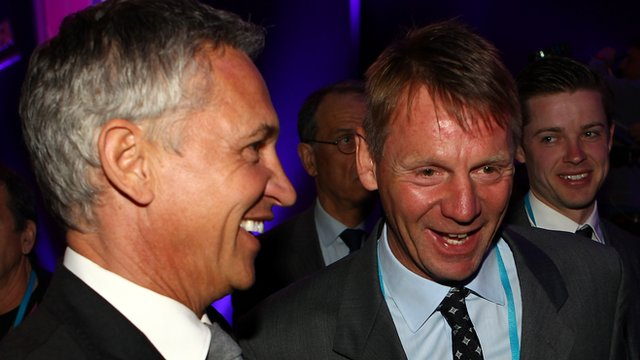 Gary Lineker and Stuart Pearce