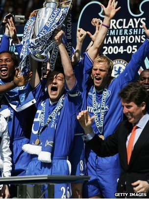 Bob Diamond with 2005 Premiership champions Chelsea