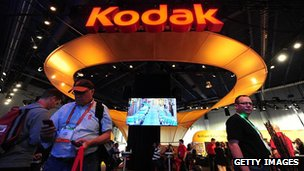 Kodak&#039;s display at the International Consumer Electronics Show