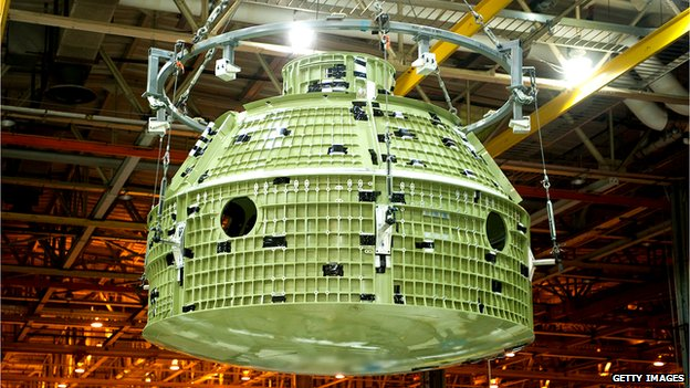 Orion space capsule shell
