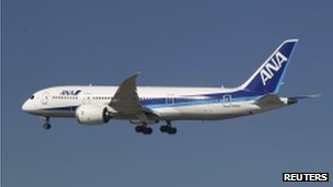 Photo of an ANA Boeing 787 Dreamliner