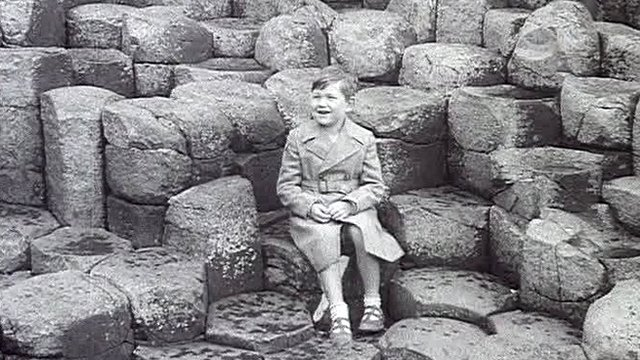 Boy on the Giant's Causeway