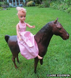 Sindy on horseback