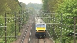 Rail service in east of England