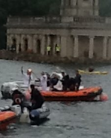 The torch kiss on Rutland Water