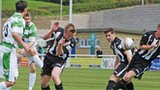 Cefn Druids in Welsh Cup action against The New Saints