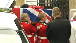 The funeral of L/Cpl James Ashworth in Corby