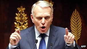 French Prime Minister Jean-Marc Ayrault addresses the National Assembly in Paris