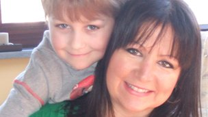 Jack Mylam and his mother Samantha Wearne