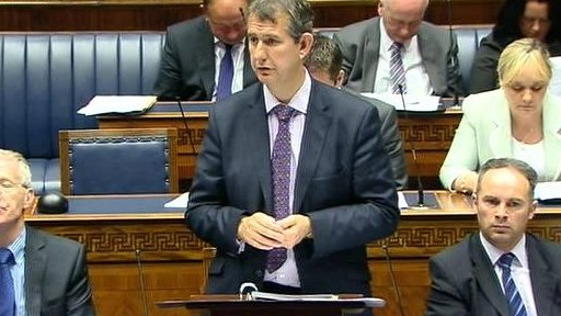 Health Minister Edwin Poots gave an update on the 'Transforming Your Care' health review.