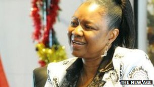 The ANC Women's League treasurer and Deputy Minister of Economic Development, Professor Hlengiwe Mkhiza