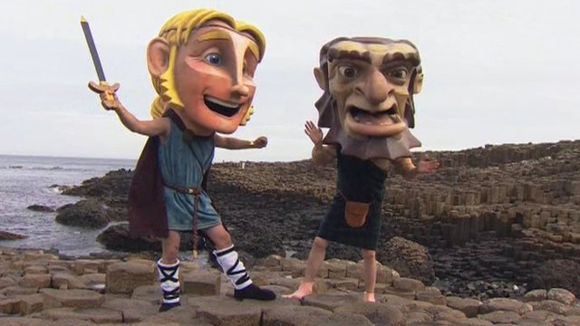 Giant's Causeway and mascots