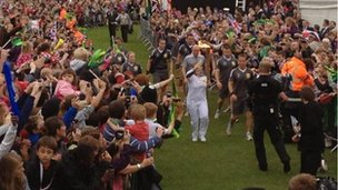 Natasha and the torch