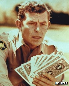 Andy Griffith undated file photo from a scene of The Andy Griffith Show