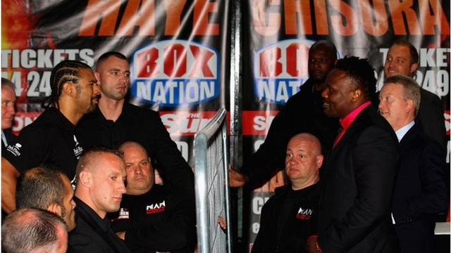 David Haye v Dereck Chisora Press Conference