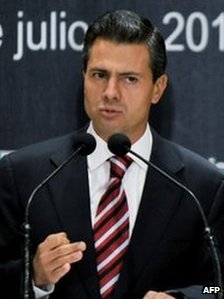 Enrique Pena Nieto speaks during a press conference on July 2 in Mexico City, Mexico