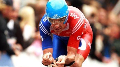 David Millar riding in 2012