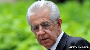 Italian prime minister Mario Monti