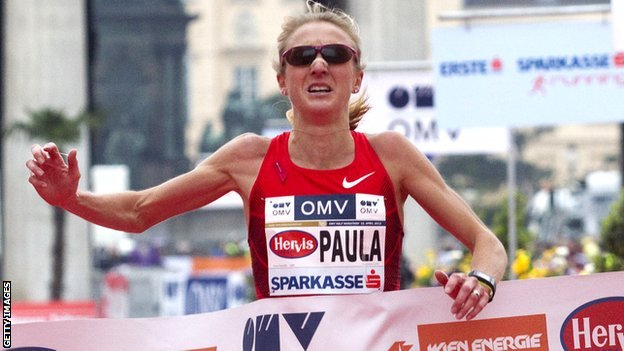 Paula Radcliffe racing in April 2012