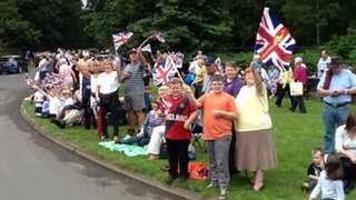 Crowds in Sandringham