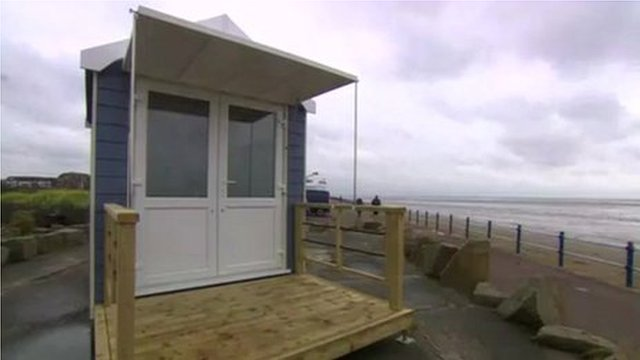 St Annes beach hut