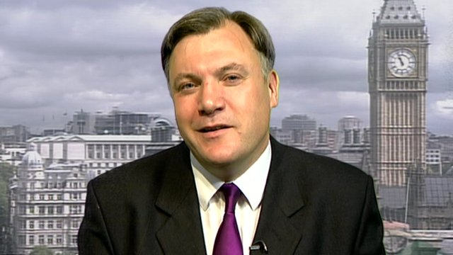 Shadow Chancellor and former Treasury Minister Ed Balls