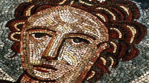 Venus mosaic from Bignor Roman villa , Sussex