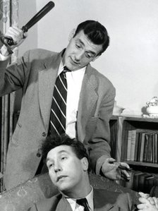 Eric Sykes with Frankie Howerd in 1951