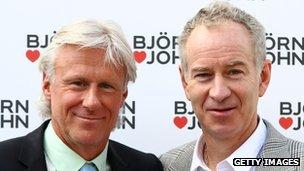 Bjorn Borg and John McKenroe