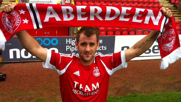 Niall McGinn shows off his new colours