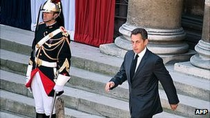 Nicolas Sarkozy, when he was president