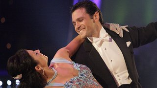 Mark Ramprakash and his dance partner Karen Hardy