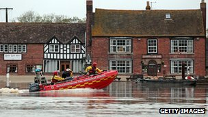 Flooding in Tewkesbury