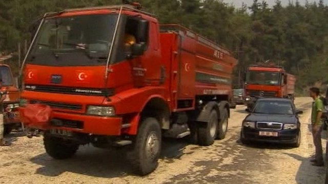 Fire truck in Turkey