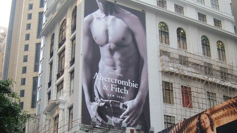 Abercrombie & Fitch store under renovation in Hong Kong