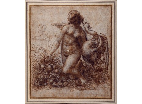 Leonardo da Vinci, Leda and the Swan, circa 1503 - 1504