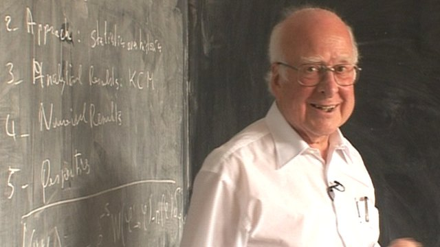 Peter Higgs of Edinburgh University