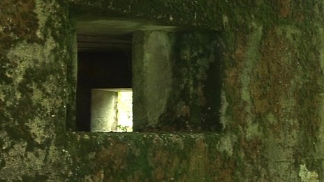 Inside a pillbox