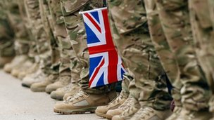 Soldiers with Union Jack