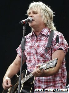 Mike Peters performs at the Isle of Wight Festival June 2012