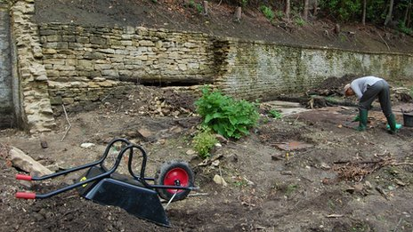 Archaeological dig at Woodchester Mansion