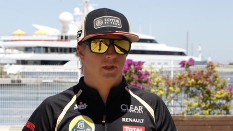 Kimi Raikkonen in Valencia