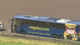 Megabus on the M6 Toll