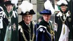 Princess Anne, Duke of Edinburgh, Prince William and the Queen