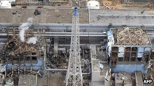 Fukushima nuclear power plant in March 2011