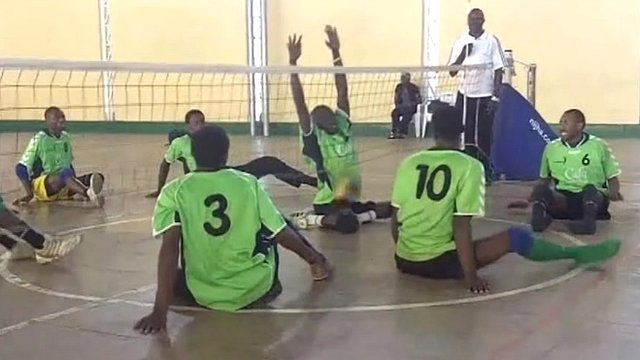 Rwanda's sitting volleyball team