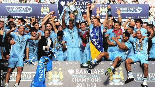 Premier League champions Manchester City